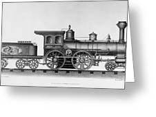 Railroad Engine, C1874 Greeting Card