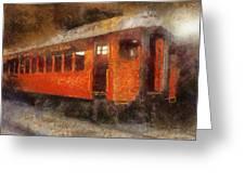 Railroad Gary Flyer Photo Art 02 Greeting Card