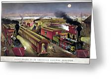 Railroad Junction, C1876 Greeting Card