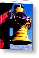 Railroad Oil Lantern Greeting Card