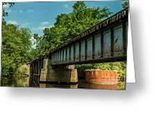 Railroad Over Waccamaw Greeting Card