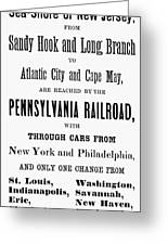 Railroad Resorts, 1884 Greeting Card