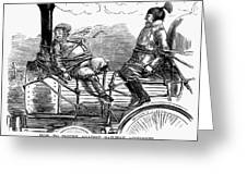 Railroad Safety, 1853 Greeting Card