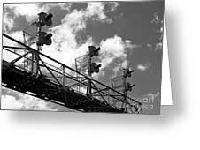 Railroad Signal Tower Greeting Card