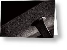 Railroad Spike And Rail Greeting Card