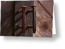 Railroad Spike Handles Greeting Card
