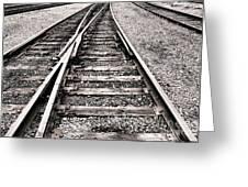 Railroad Switch Greeting Card