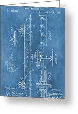 Railroad Tie Patent On Blue Greeting Card