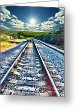 Railroad To Heaven Greeting Card