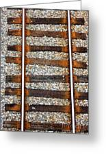 Railroad Track With Gravel 2 Greeting Card
