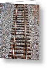 Railroad Track With Gravel Bed Greeting Card