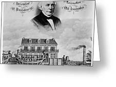 Railroad Train, 1832 Greeting Card