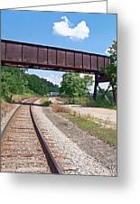 Railroad Train Tracks And Trestle Greeting Card