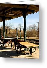 Railroad Wagons Greeting Card