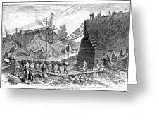 Railroad Washout, 1885 Greeting Card