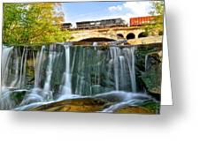 Railroad Waterfall Greeting Card