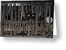 Railroad Wrenches Greeting Card