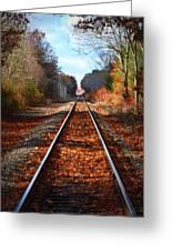 Rails Greeting Card by Tricia Marchlik