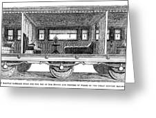 Railway Carriage, 1864 Greeting Card