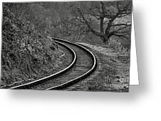 Railway Line Greeting Card