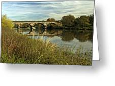 Railway Viaduct At Waterside - Stapenhill Greeting Card