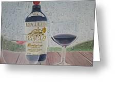 Rain And Wine Greeting Card