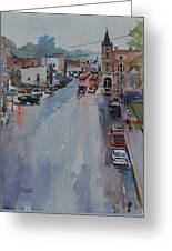 Rain At Rush Hour Fairfield Il Greeting Card