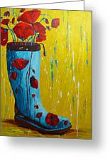 Rain Boot Series Unusual Flower Pots Greeting Card by Patricia Awapara