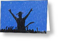 Rain Can't Stop Me Greeting Card