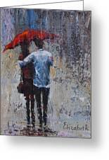 Rain Embrace Greeting Card