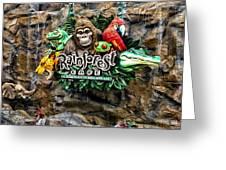 Rain Forest Cafe Signage Walt Disney World Greeting Card