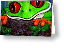 Rain Forest Frog Greeting Card