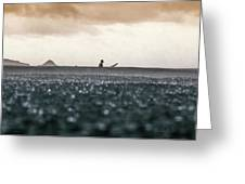 Rain In An Ocean Greeting Card