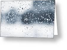 Rain In Winter Greeting Card