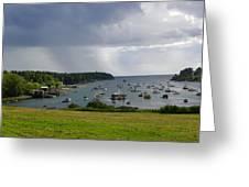 Rain Mackerel Cove Greeting Card