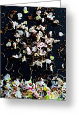 Rain Of Petals Greeting Card