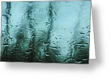 Rain On Bare Trees Greeting Card