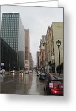Rain On Water Street 2 Greeting Card