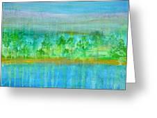 Rain  Original Contemporary Acrylic Painting On Canvas Greeting Card