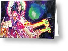 Rain Song Jimmy Page Greeting Card