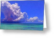 Rain Squall On The Horizon Greeting Card