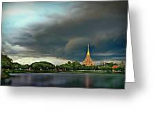 Rain Storm Lake View Greeting Card