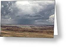 Approaching Storm The Painted Desert Arizona Greeting Card