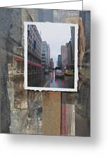 Rain Wisconcin Ave Tall View Greeting Card