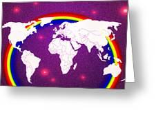 Rainbow's World 20 Greeting Card