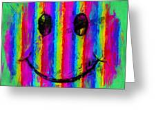 Rainbow Abstract Smiley Face Greeting Card