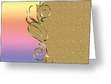 Rainbow And Gold Greeting Card