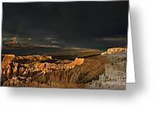 Rainbow And Thunderstorm Bryce Canyon National Park Ut Greeting Card