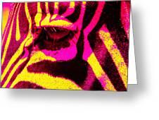 Rainbow Animals - Zebra  Greeting Card