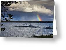 Rainbow At Burt Lake Greeting Card